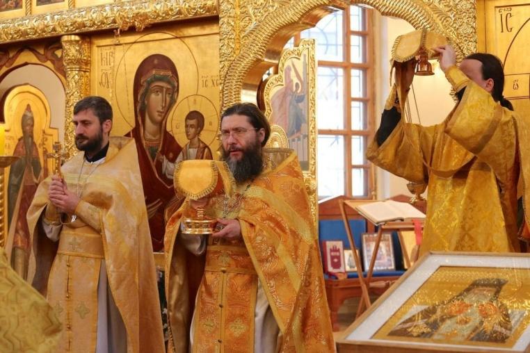 2016_11_14_Престольный праздник больничного храма, литургия