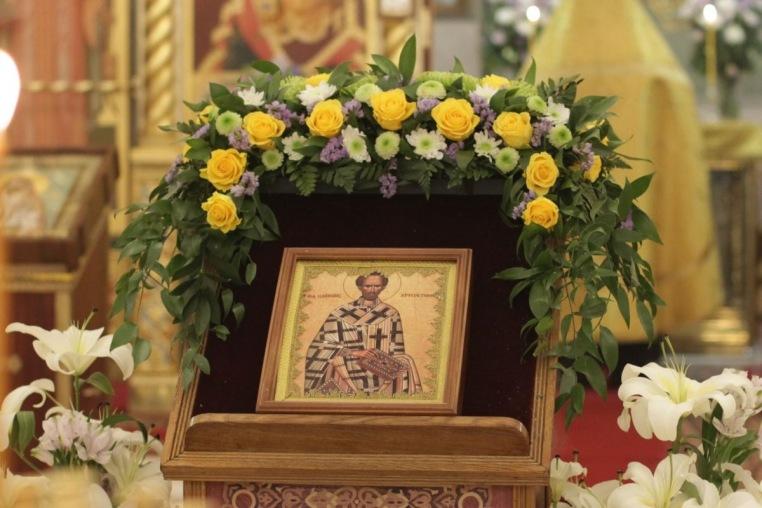 9 февраля 2019 года, перенесение мощей святителя Иоанна Златоуста, день тезоименитства настоятеля храма протоиерея Иоанна Кудрявцева