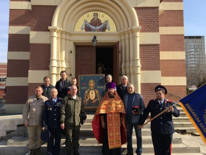 Молебен перед передачей Албазинской иконы Богородицы Сербской Церкви